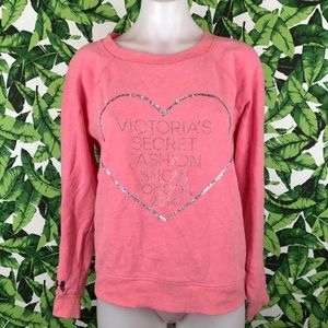 5 for $25 VS Fashion Show Pink Heart Sweater